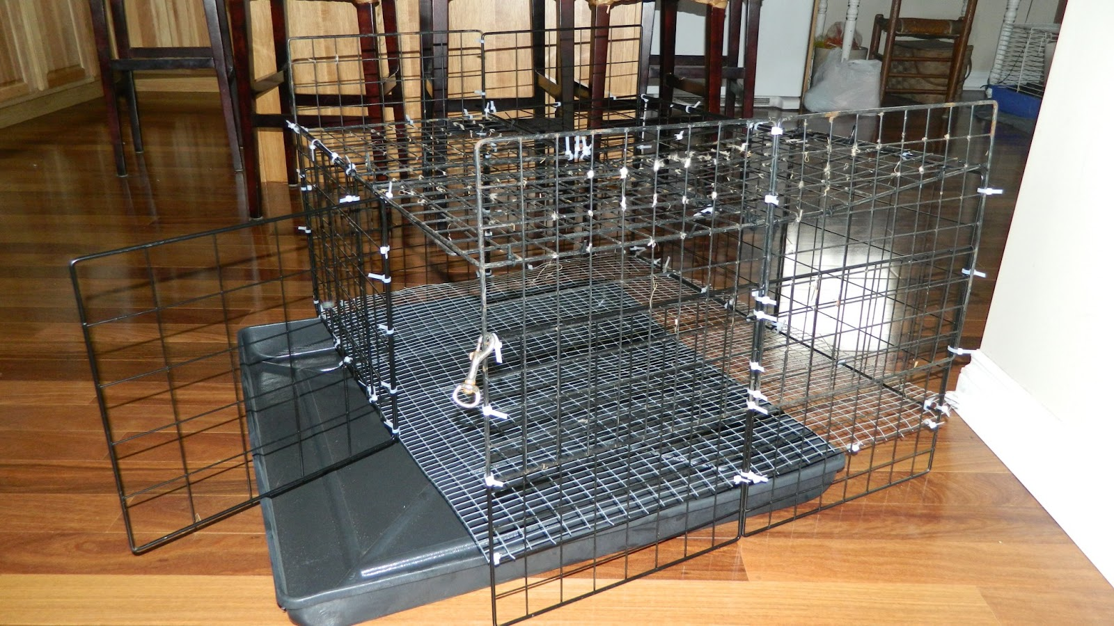 Homemade rabbit cage - How to make a rabbit cage ...