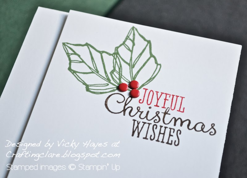 Joyful Christmas by Stampin Up from Vicky Hayes