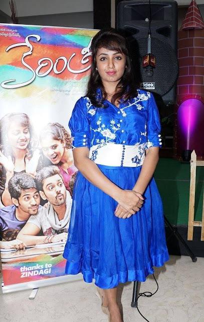 Tejaswi Stills At Kerintha Movie Promotion in Manjeera Mall