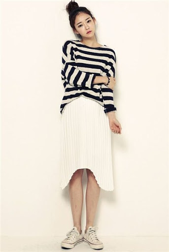 Gaya fashion wanita korea desain casual elegan terbaru 2017/2018