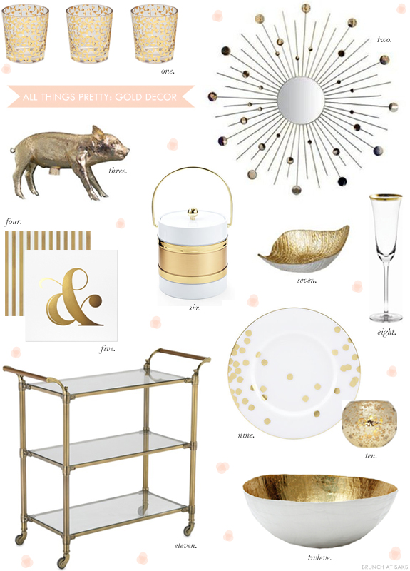 Gold home decor accents b a s blog Home decor gold