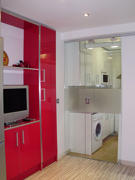 Puertas De Aluminio Para Baño Sencillas:puerta+corredera+ruedas+colgante+sin+cenefa+para+division+de
