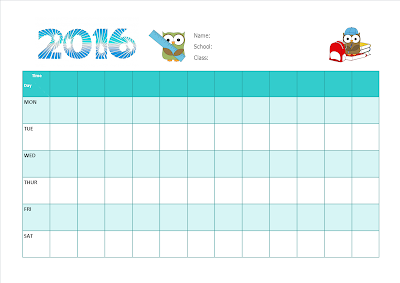 Blank School Timetable For Boys And Girls For 2016 Parenting Times – School Time Table Designs