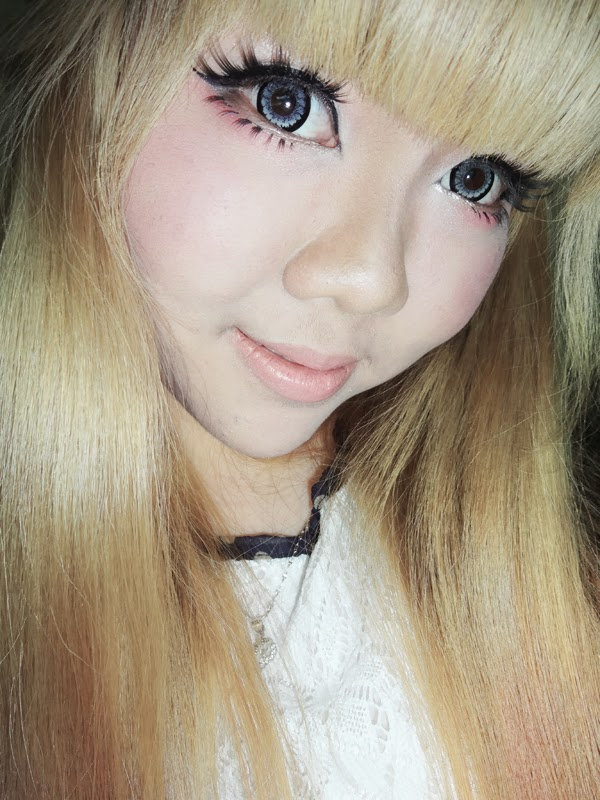 ageha circle lens icy grey