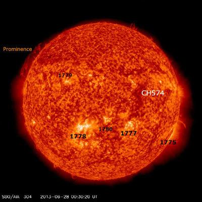 MANCHAS SOLARES 28 DE JUNIO 2013