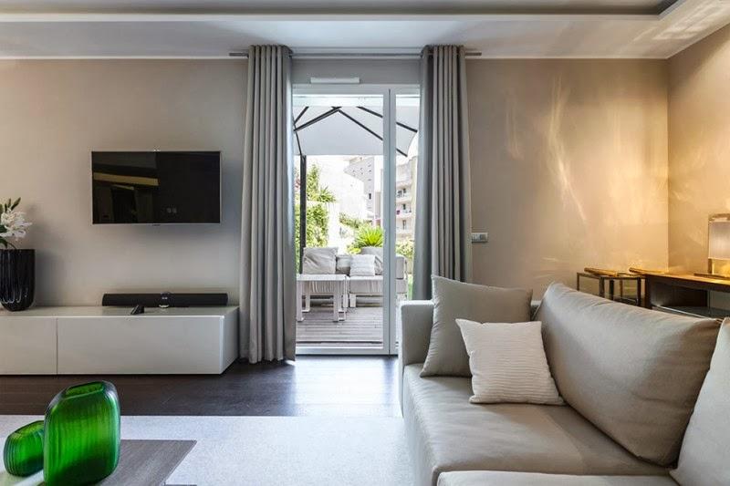 Hogares frescos elegante proyecto de dise o interior decorado en colores p lidos - Paginas de diseno de interiores ...