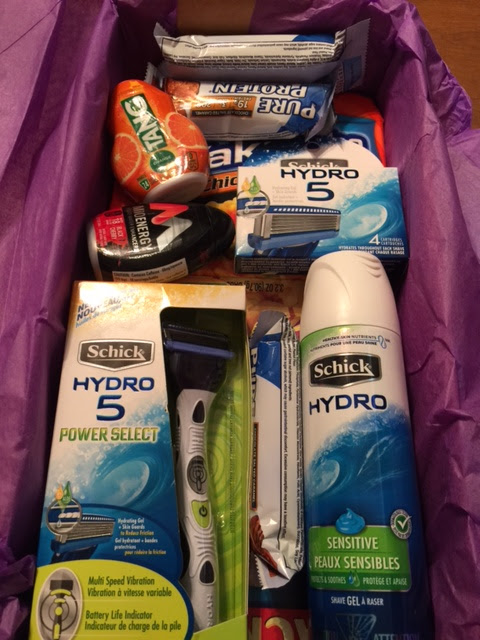 College care package complete with Schick Supplies