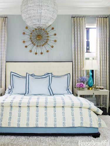 house beautiful traditional blue and white master bedroom design