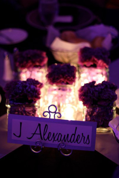 Purple and Silver Wedding at the Marriott Key Center Danielle AJ