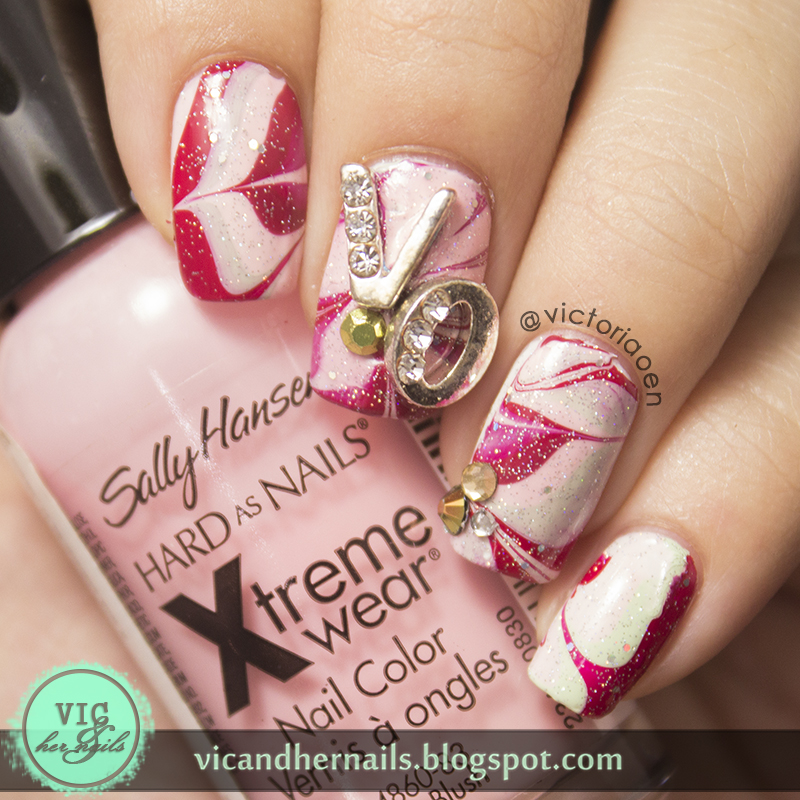 Vic and Her Nails: Watermarble with Letters Nail Charm (BPS Review)
