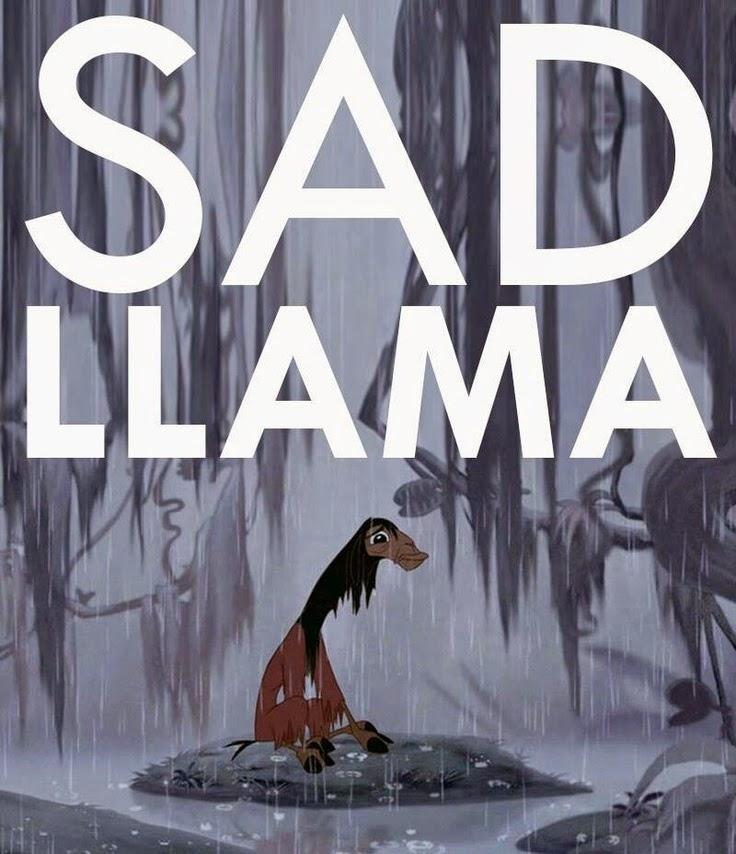 Sad Llama Kuzco