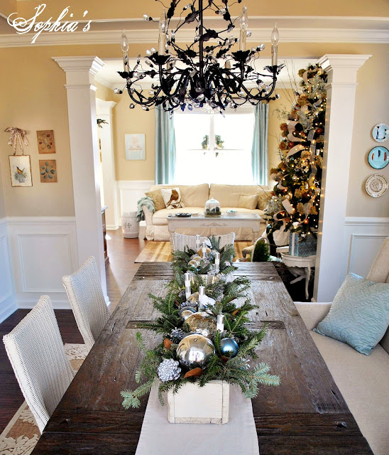 Living Room Table Centerpieces: Sophia's: Christmas Home Tour 2012
