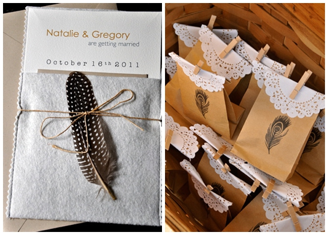 Pretty Easy To DIY Feather Wedding Detail