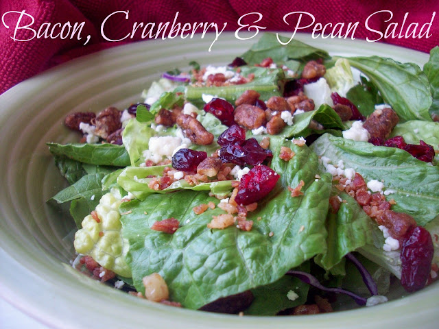 Bacon, Cranberry and Pecan Salad