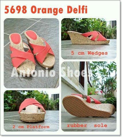 Aneka model sepatu sandal wanita murah,Model sandal wanita terbaru model Orange Delfi