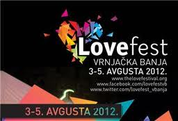 The Love festival 2012 - od 3 - 5 avgusta