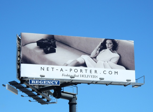 Net a Porter Fashion that delivers gift boxes billboard