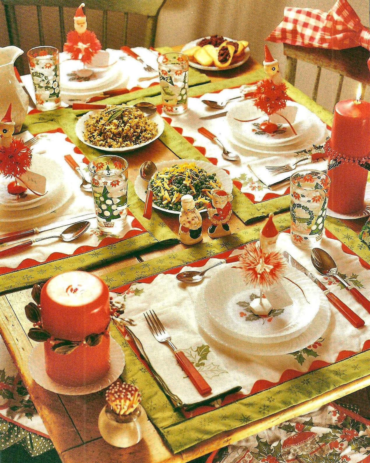 Decorating Ideas > Zettas Aprons Fun Christmas Table Settingand A Winner! ~ 022409_Christmas Decorations For A Table
