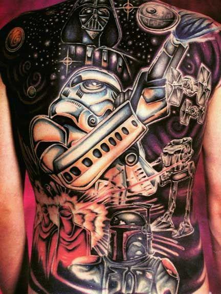 Tatuaje asombroso de Star Wars