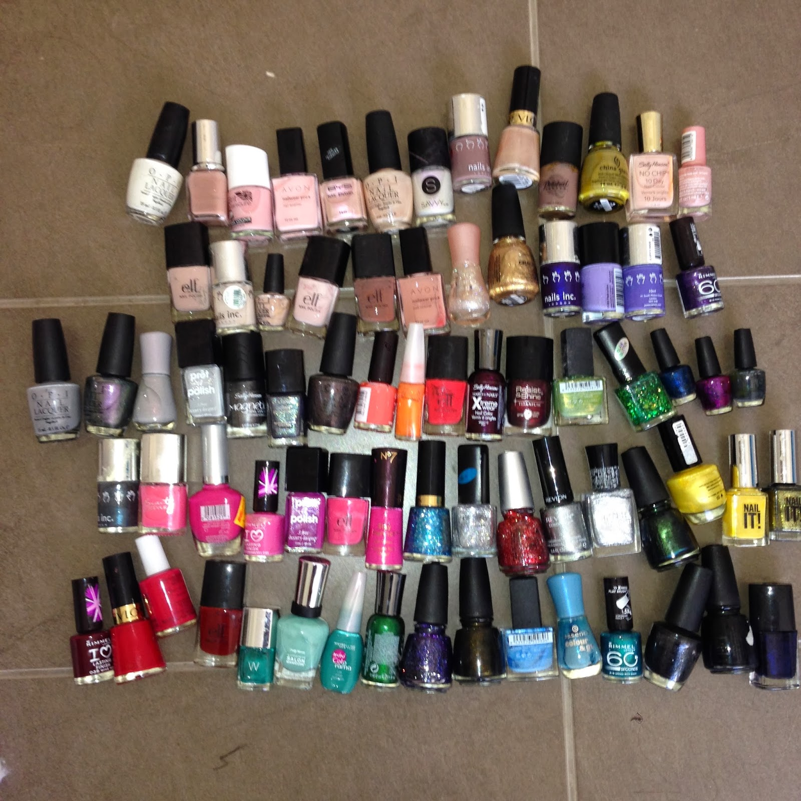 TOO MANY NAIL POLISHES TO COUNT
