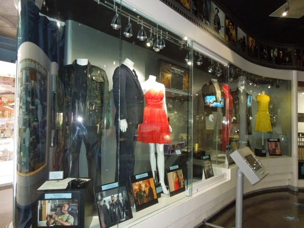 Original movie TV costumes on display