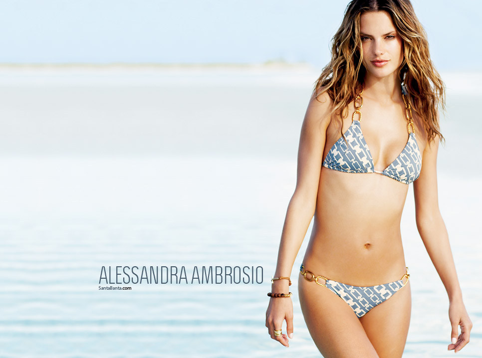 Alessandra Ambrosio Bikini Wallpaper