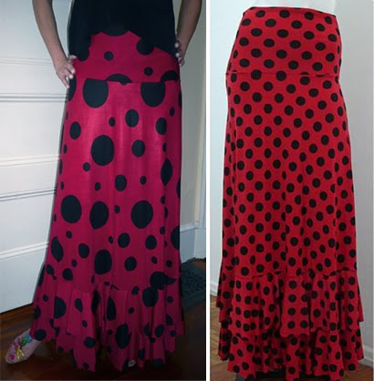 Skirt Jasmin 005-2 Big Lunares red-black / Small Lunares Red + Black - US$95.00
