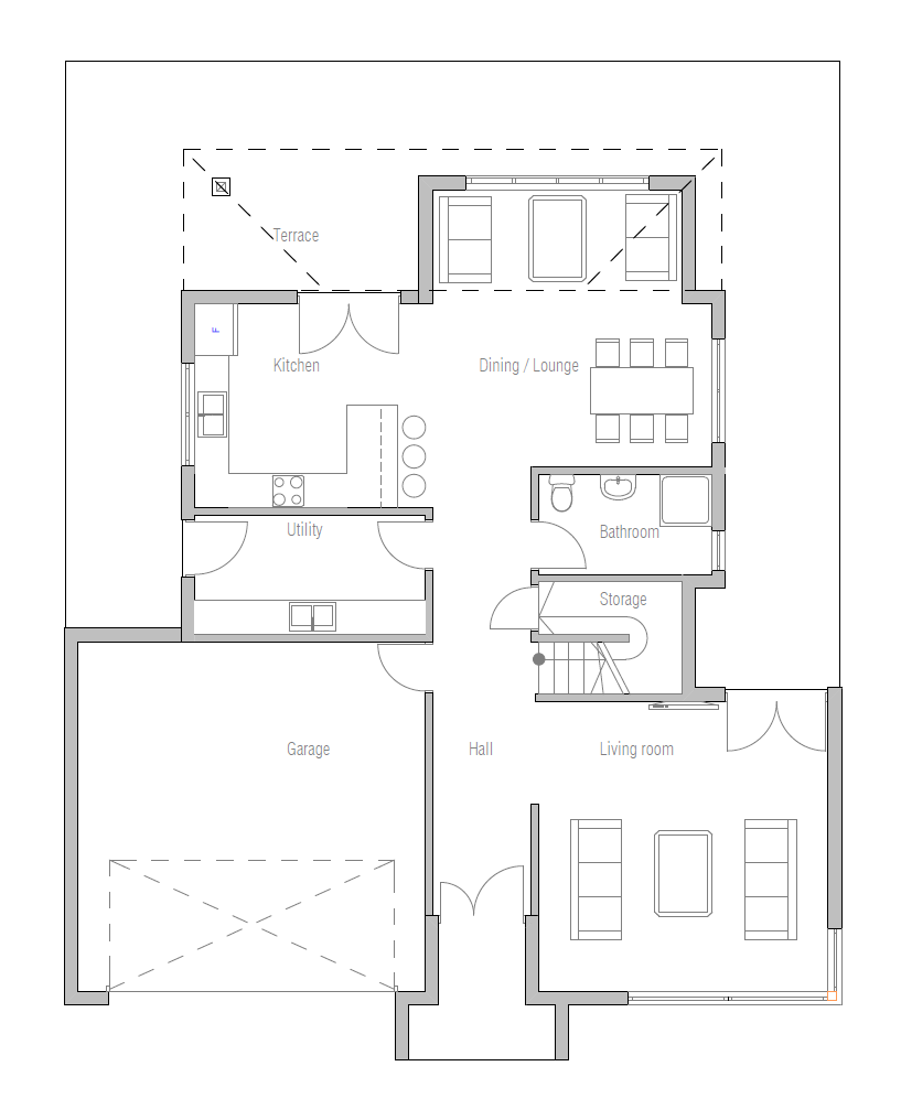 Affordable Home Plans: Modern Affordable Home Plan CH236