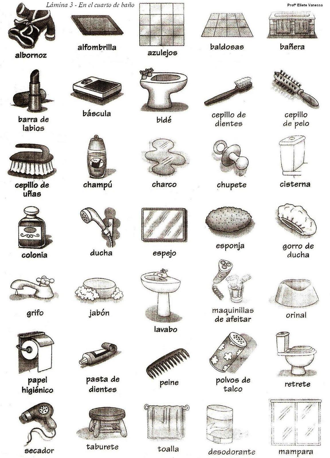 imagenes de objetos del ba o