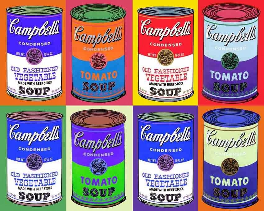 "Cambell""s soup dekoracja estetyki pop-artu"