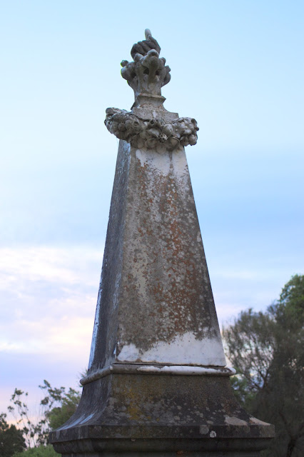 Image of an old grave's tombstone - cemetery photography