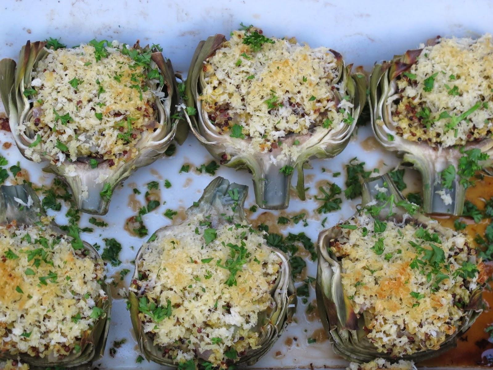 Quinoa-Stuffed Artichokes