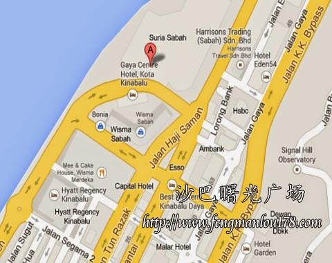 沙巴曙光广场地图