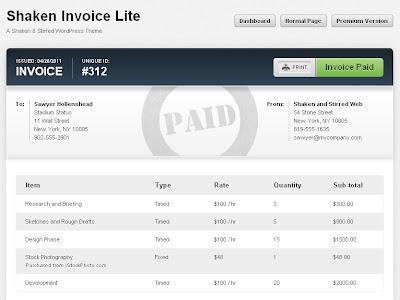 shaken invoice lite