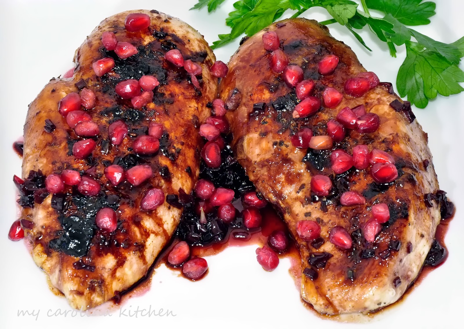 the chicken rosemary pomegranate glaze roast chicken with pomegranate ...