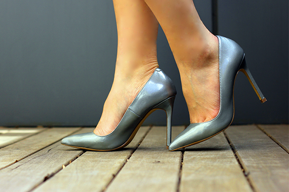 Shoe Mint Silver Pumps
