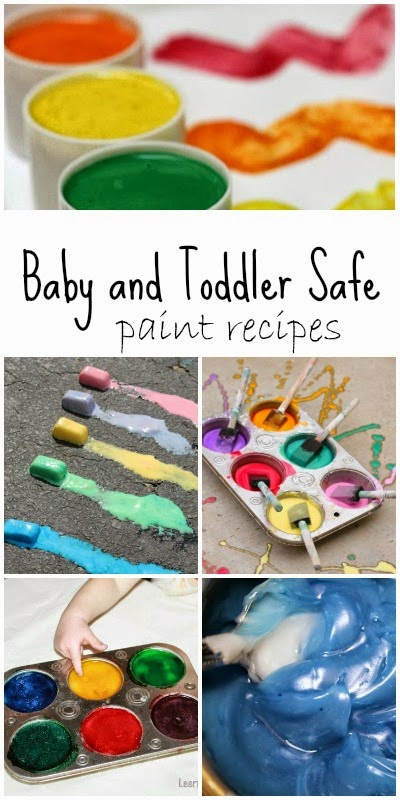 Homemade paint recipes safe for babies and toddlers for Craft paint safe for babies