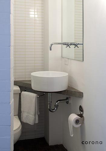 Baño Minimalista Pequeno:Baños para espacios pequeños: Baños para casas chicas