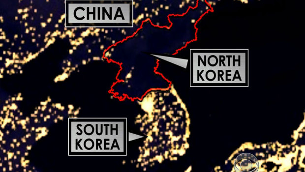 Chatter clatter and things that matter sneak peeks with ke one of the first things that shocks the reader is the photo of north korea at night from space like this one gumiabroncs Choice Image