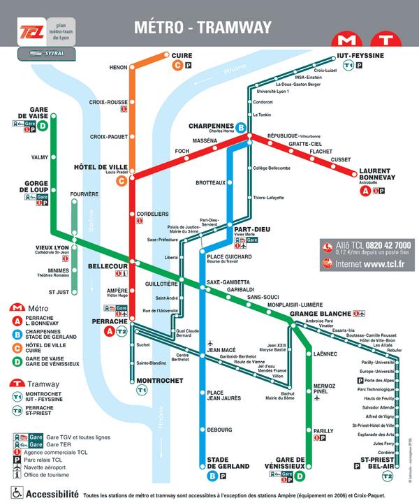 Plan de metro lyon voyages cartes - Lyon barcelone bus ...
