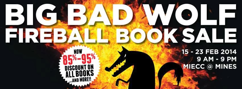 Big Bad Wolf Fireball Book Sale accepts the new BB1M 2014 vouchers