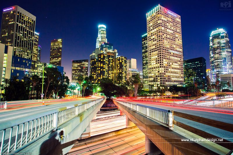 22. Me and Downtown Los Angeles at Night! by Nhut Pham