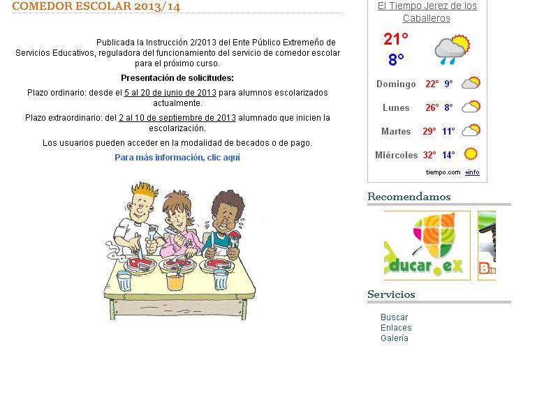 C e i p sotomayor y terrazas comedor escolar 2013 2014 - Proyecto de comedor escolar ...