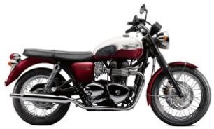 2012 Triumph Bonneville T100 colors - Cranberry and New England White