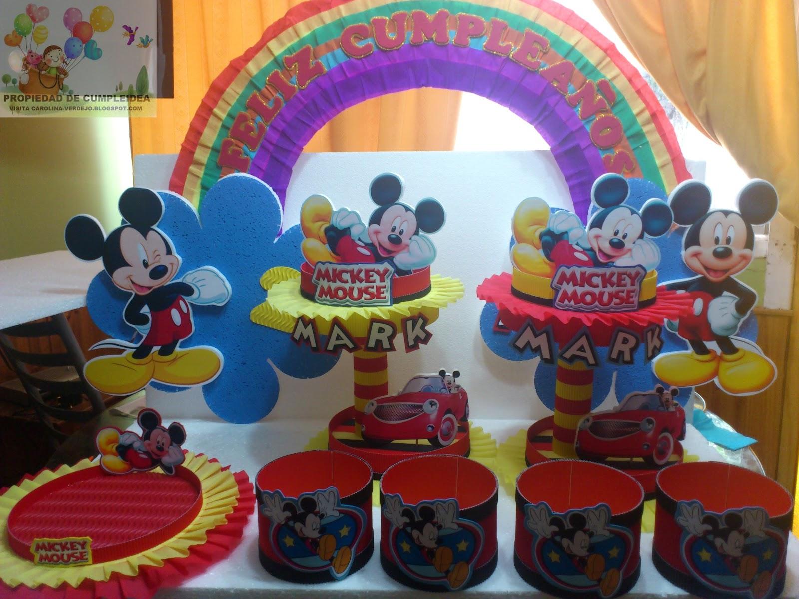 Mickey Mouse Decoracion Mesa ~ Publicado por Carolina Verdejo S en 18 09