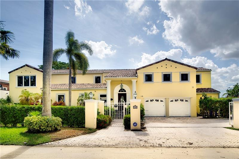 Offered at $2,850,000. Beautiful Vintage Corner Waterfront at 1150 N. Southlake, Hollywood, Florida