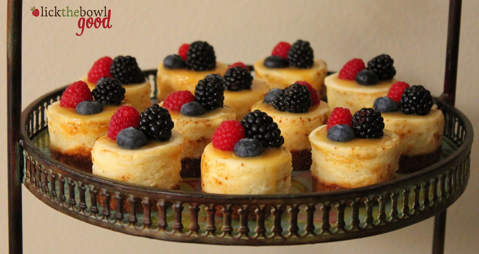 Mini Cheesecakes adapted from Williams-Sonoma