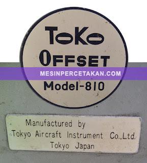 Toko 810 | Original JAPAN printing machine
