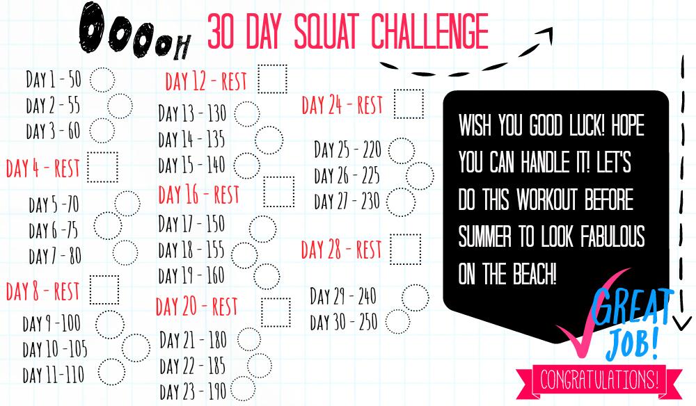 30 DAYS SQUAT CHALLENGE!
