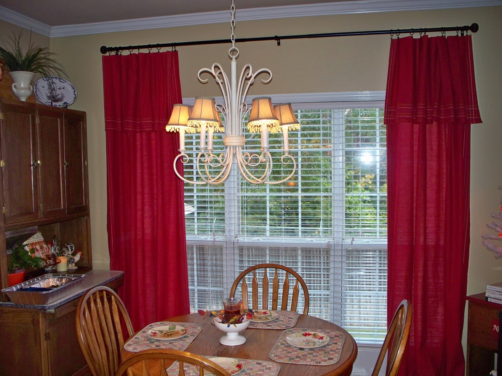 Red Kitchen Curtain Sets Modern Red Kitchen Curtains